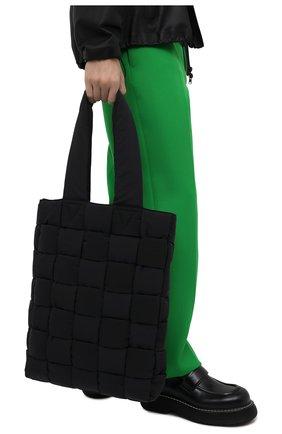 Мужская текстильная сумка-шопер BOTTEGA VENETA черного цвета, арт. 628958/VB081 | Фото 2