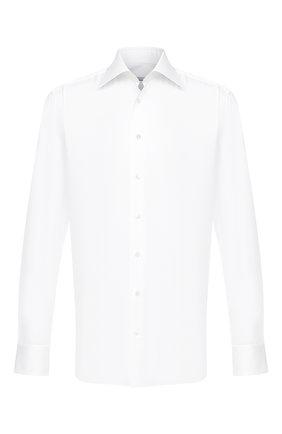 Мужская хлопковая сорочка ZILLI белого цвета, арт. MFU-10715-0299/0001 | Фото 1