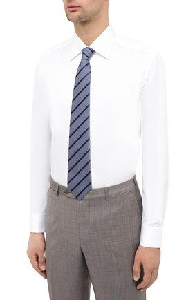Мужская хлопковая сорочка ZILLI белого цвета, арт. MFU-10715-0299/0001   Фото 4