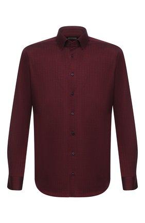 Мужская хлопковая рубашка ZILLI красного цвета, арт. MFU-64034-0001/0001 | Фото 1