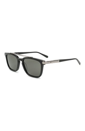 Мужские солнцезащитные очки BRIONI черного цвета, арт. 0DC500/P3ZAC | Фото 1