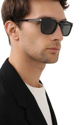 Мужские солнцезащитные очки BRIONI черного цвета, арт. 0DC500/P3ZAC | Фото 2
