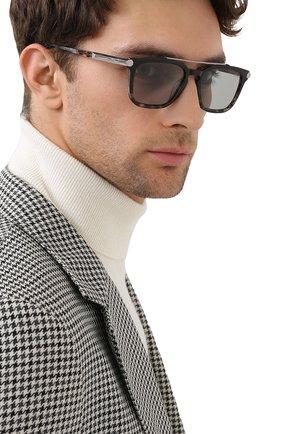 Мужские солнцезащитные очки BRIONI серого цвета, арт. 0DC500/P3ZAC | Фото 2