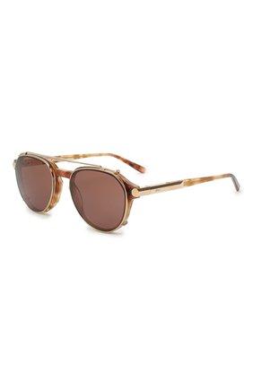 Мужские солнцезащитные очки BRIONI светло-коричневого цвета, арт. 0DC400/P3ZAC | Фото 1