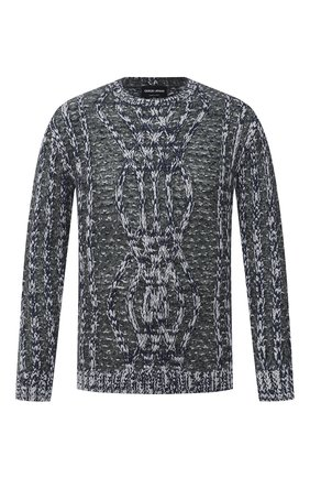 Мужской свитер GIORGIO ARMANI серого цвета, арт. 6HSM22/SM30Z | Фото 1