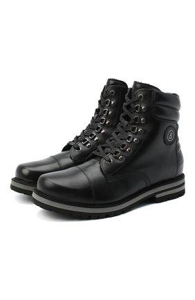 Мужские кожаные ботинки BOGNER черного цвета, арт. 103-C523/C0URCHEVEL M 5A | Фото 1