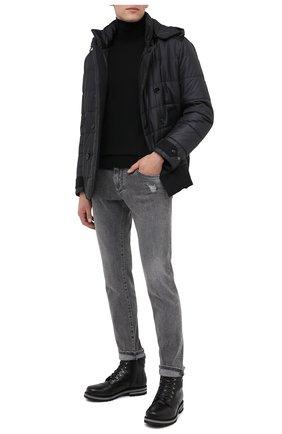 Мужские кожаные ботинки BOGNER черного цвета, арт. 103-C523/C0URCHEVEL M 5A | Фото 2