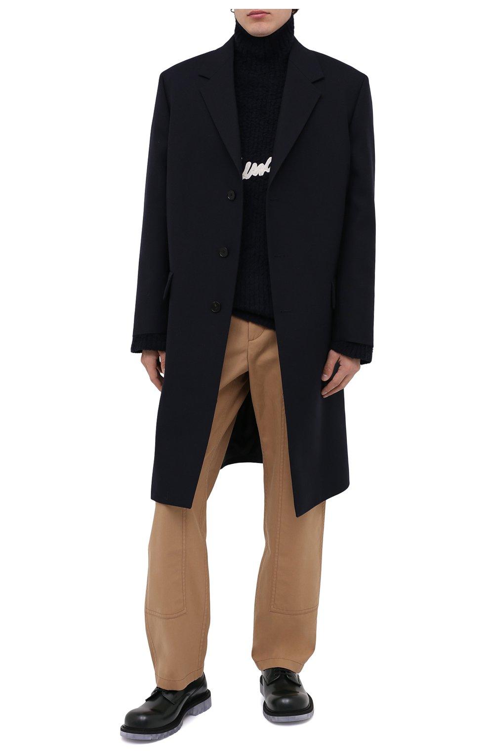 Мужской хлопковый свитер BALENCIAGA темно-синего цвета, арт. 625935/T3182 | Фото 3