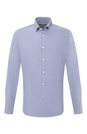 Мужская хлопковая сорочка CORNELIANI синего цвета, арт. 86P010-0811523/00 | Фото 1