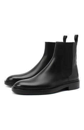 Мужские кожаные челси JIL SANDER черного цвета, арт. JI35531A-12280 | Фото 1