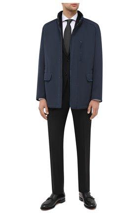 Мужской шерстяной костюм CORNELIANI черного цвета, арт. 867268-0818414/92 Q1 | Фото 1