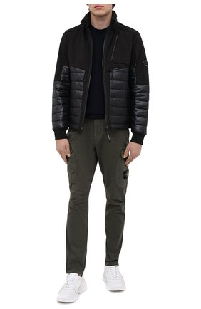 Мужская утепленная куртка C.P. COMPANY черного цвета, арт. 09CM0W049A-005784M | Фото 2