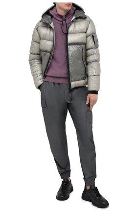 Мужская пуховая куртка C.P. COMPANY серого цвета, арт. 09CM0W068A-005791A | Фото 2