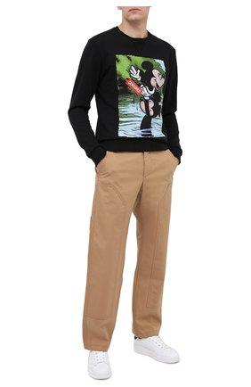 Мужской хлопковый свитшот BISIBIGLIO черного цвета, арт. LU SWIM MICK | Фото 2