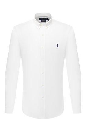 Мужская хлопковая рубашка POLO RALPH LAUREN белого цвета, арт. 710794604 | Фото 1