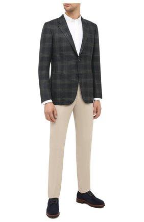 Мужская хлопковая рубашка POLO RALPH LAUREN белого цвета, арт. 710794604 | Фото 2