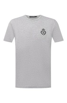Мужская хлопковая футболка DOLCE & GABBANA светло-серого цвета, арт. G8JX7Z/G7WTZ | Фото 1