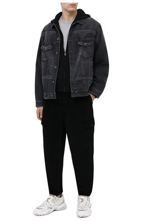 Мужская хлопковая футболка DOLCE & GABBANA светло-серого цвета, арт. G8JX7Z/G7WTZ | Фото 2