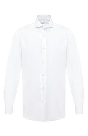 Мужская хлопковая сорочка LUIGI BORRELLI белого цвета, арт. EV08/FELICE/TS30851 | Фото 1