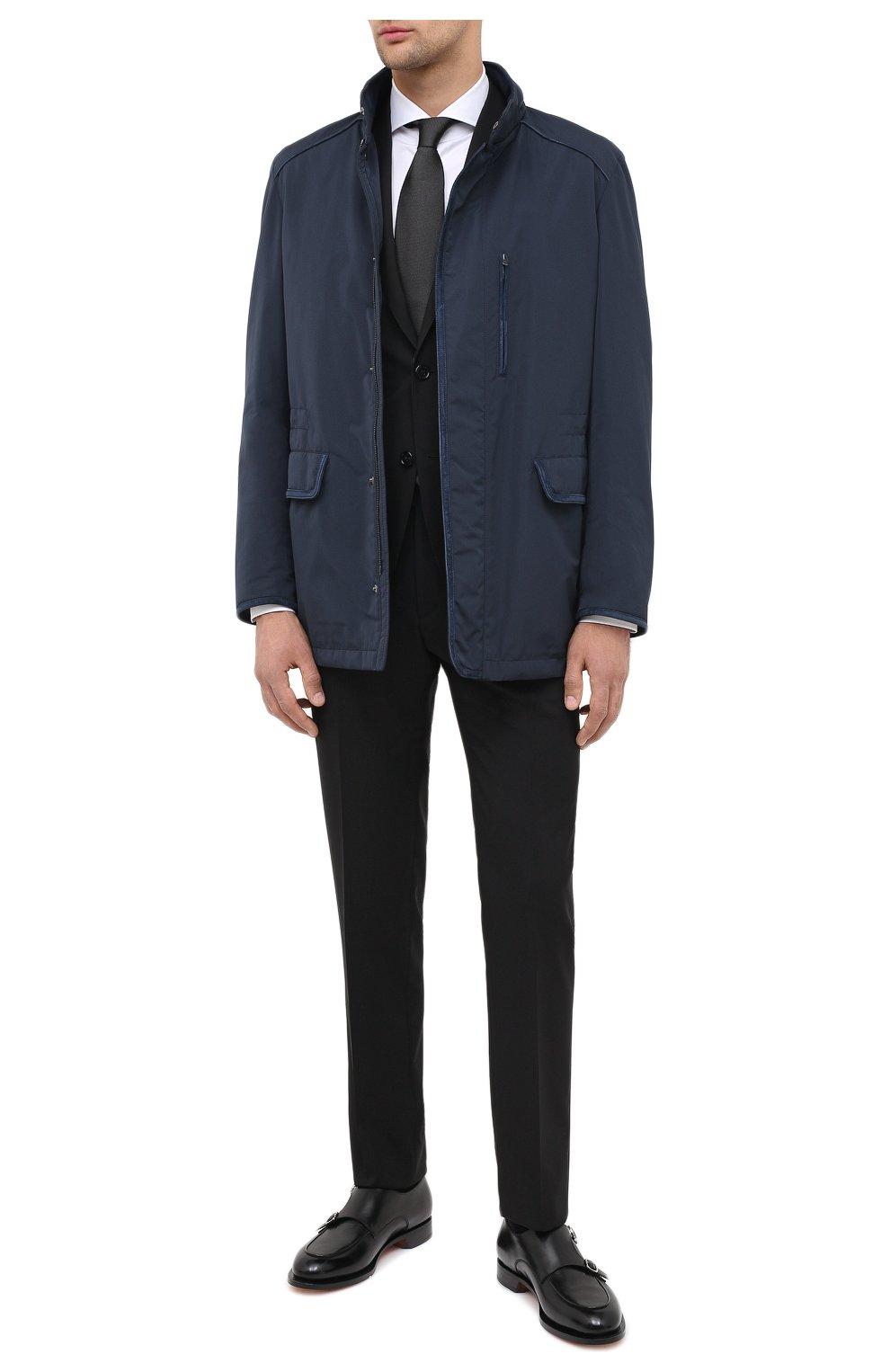 Мужская хлопковая сорочка LUIGI BORRELLI белого цвета, арт. EV08/FELICE/TS30851   Фото 2 (Рукава: Длинные; Длина (для топов): Стандартные; Материал внешний: Хлопок; Случай: Формальный; Стили: Кэжуэл)