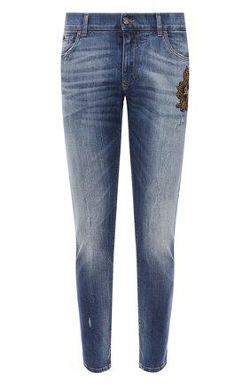 Мужские джинсы DOLCE & GABBANA синего цвета, арт. GY07CZ/G8CR9 | Фото 1