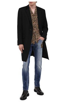 Мужские джинсы DOLCE & GABBANA синего цвета, арт. GY07CZ/G8CR9 | Фото 2