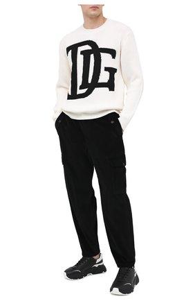 Мужской шерстяной свитер DOLCE & GABBANA белого цвета, арт. GXB34T/JAVXB | Фото 2