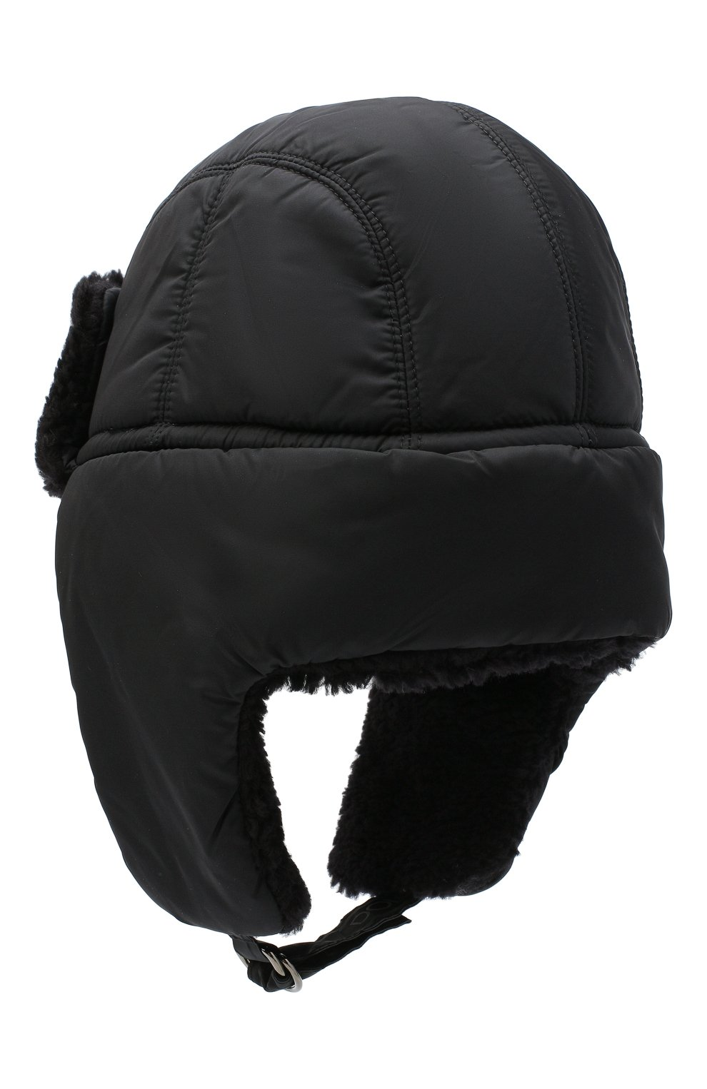 Мужская утепленная шапка-ушанка DOLCE & GABBANA черного цвета, арт. GH574Z/FUMQG | Фото 2