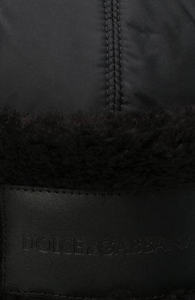 Мужская утепленная шапка-ушанка DOLCE & GABBANA черного цвета, арт. GH574Z/FUMQG | Фото 3