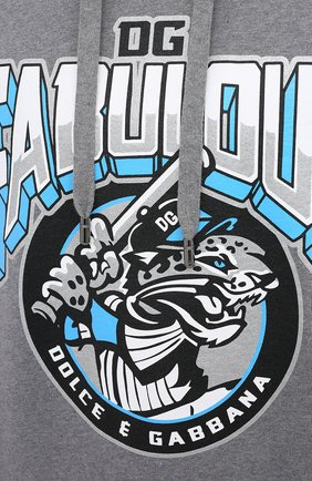 Мужской хлопковое худи DOLCE & GABBANA серого цвета, арт. G9PZ9T/G7TNG | Фото 5
