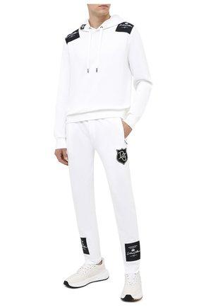 Мужской хлопковое худи DOLCE & GABBANA белого цвета, арт. G90F9Z/G7XEZ | Фото 2