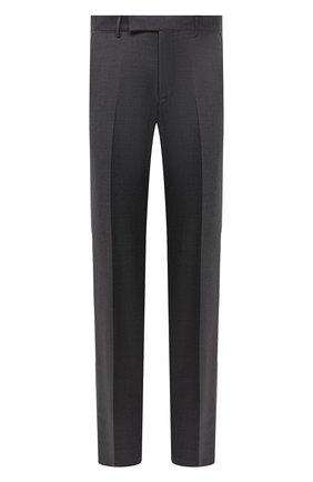 Мужские шерстяные брюки ERMENEGILDO ZEGNA темно-серого цвета, арт. 811F00/75SB12 | Фото 1