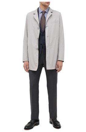 Мужские шерстяные брюки ERMENEGILDO ZEGNA темно-серого цвета, арт. 811F00/75SB12 | Фото 2