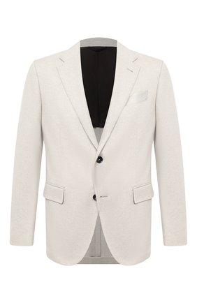 Мужской пиджак из кашемира и шерсти ERMENEGILDO ZEGNA белого цвета, арт. 859117/10FTK0 | Фото 1