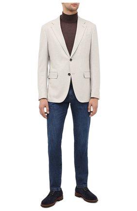 Мужской пиджак из кашемира и шерсти ERMENEGILDO ZEGNA белого цвета, арт. 859117/10FTK0 | Фото 2