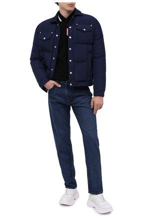 Мужская пуховая куртка DSQUARED2 темно-синего цвета, арт. S74AM1097/S53141   Фото 2