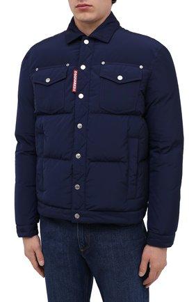 Мужская пуховая куртка DSQUARED2 темно-синего цвета, арт. S74AM1097/S53141   Фото 3