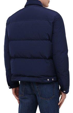 Мужская пуховая куртка DSQUARED2 темно-синего цвета, арт. S74AM1097/S53141   Фото 4