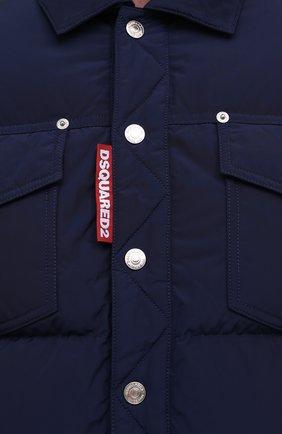 Мужская пуховая куртка DSQUARED2 темно-синего цвета, арт. S74AM1097/S53141   Фото 5