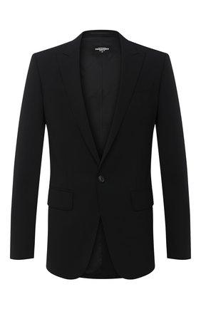 Мужской шерстяной пиджак DSQUARED2 черного цвета, арт. S74BN1004/S40320 | Фото 1