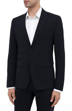 Мужской шерстяной костюм DSQUARED2 темно-синего цвета, арт. S74FT0407/S40320 | Фото 2