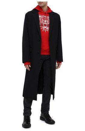 Мужской хлопковое худи KENZO красного цвета, арт. FA65SW3104XA | Фото 2