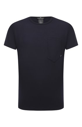 Мужская хлопковая футболка STONE ISLAND SHADOW PROJECT темно-синего цвета, арт. 731920110 | Фото 1
