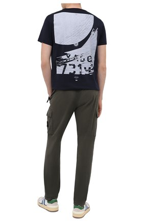 Мужская хлопковая футболка STONE ISLAND SHADOW PROJECT темно-синего цвета, арт. 731920110 | Фото 2