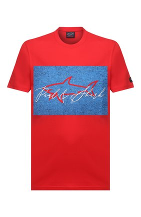 Мужская хлопковая футболка PAUL&SHARK красного цвета, арт. A20P1694/C00   Фото 1