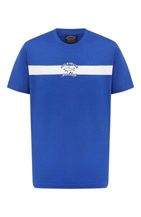 Мужская хлопковая футболка PAUL&SHARK синего цвета, арт. A20P1650/C00   Фото 1
