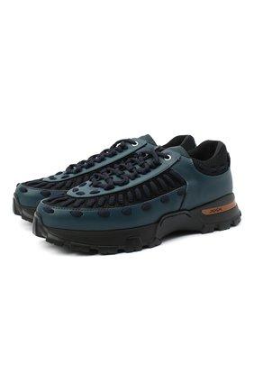 Мужские комбинированные кроссовки claudio ZEGNA COUTURE бирюзового цвета, арт. A4256X-LHSSP | Фото 1