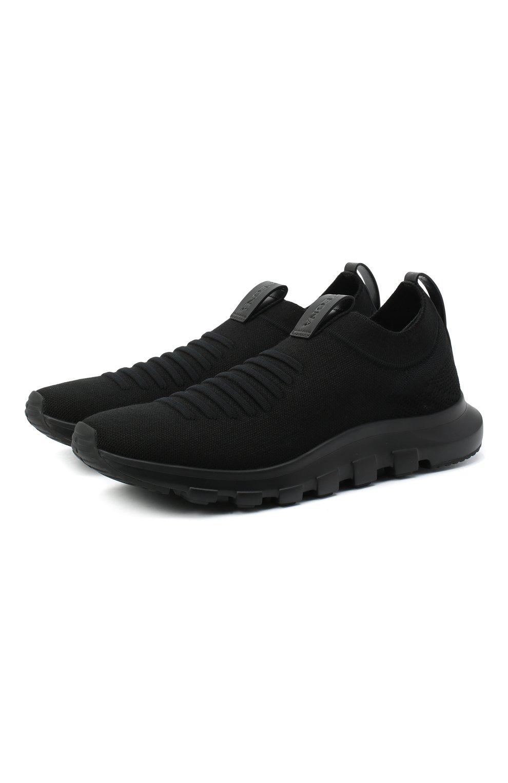 Мужские текстильные кроссовки Z ZEGNA черного цвета, арт. A4416X-LHSTE | Фото 1 (Материал внешний: Текстиль; Материал внутренний: Текстиль; Подошва: Массивная; Стили: Спорт)