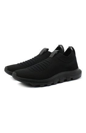 Мужские текстильные кроссовки Z ZEGNA черного цвета, арт. A4416X-LHSTE | Фото 1