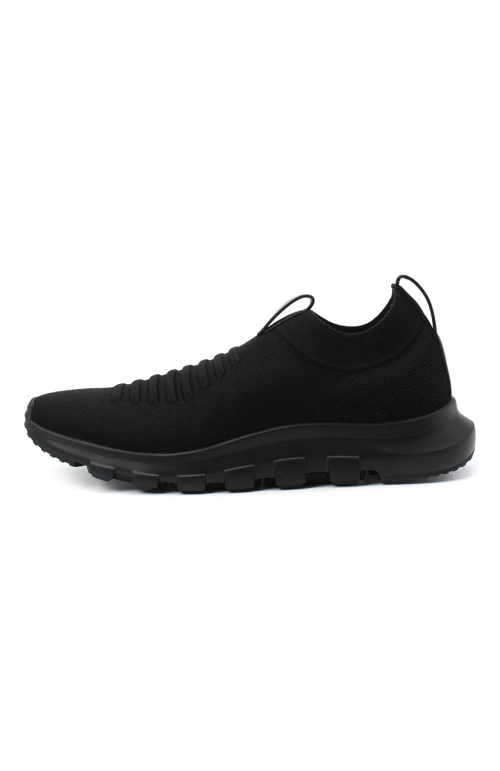 Мужские текстильные кроссовки Z ZEGNA черного цвета, арт. A4416X-LHSTE | Фото 3 (Материал внешний: Текстиль; Материал внутренний: Текстиль; Подошва: Массивная; Стили: Спорт)